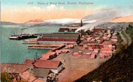 Washington Everett View Of Water Front - Etats-Unis