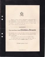 MONS IXELLES Léon-Louis COLENBUEN De STRAZEELE 1872-1902 Famille WIELEMANS HARDENPONT DU PONT - Obituary Notices