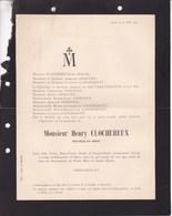 LIEGE CLOCHEREUX Henry Docteur En Droit 44 Ans 1906 Famille De MACAR OPHOVEN D'ANDRIMONT - Obituary Notices