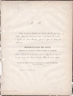 GAND GENT DEN DUYTS Charles-François Conservateur Des Collections D'histoire Naturelle De L'université 42 Ans 1860 - Obituary Notices