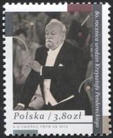 POLAND 2013, Mi 4642, Krzysztof Penderecki - Polish Composer And Conductor, Music, Art MNH ** - 1944-.... Republic