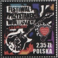 POLAND 2013, Mi 4622, Woodstock Festival, Music, Art, Event, Stage, Tatoo MNH ** - 1944-.... Republic