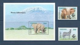 Tanzanie Tanzania 1992 Yv. Bloc 175 ** + 1150/1151 ** Sommet De La Terre 92 à Rio - Earth Summit In Rio - Elephant Zebre - Tanzania (1964-...)