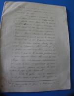 MONIEUX--Manuscrit Document Historique-Magne Ministre Des Finances Au Sénat Séance 18 Jan 1870-Tocqueville Ancien Régime - Unclassified