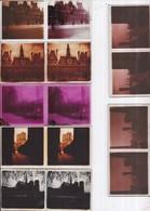 PARIS Rive Droite 49 Plaques De Verre Stéréo Dont Bien Animées Format 58 X 128 Mm Dans Boite Rangement En Bois - 2 Scans - Glass Slides