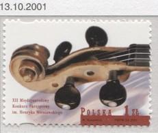 2001 Poland Henryk Wieniawski International Violin Competition, Instrument, Music Composer MNH** - 1944-.... Republic