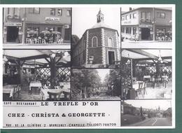 Moresnet - Cpm Cafe Restaurant - Le Trefle D'or- Chez Christa Et Georgette -rue De La Clinique - Multivues - Plombières