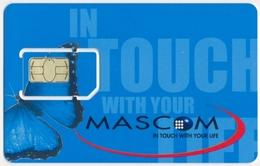 BOTSWANA GSM (SIM) CHIP CARD MASCOM BUTTERFLY SUNFLOWER MINT UNUSED - Botswana