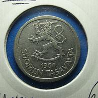 Finland 1 Markka 1964 Silver - Finland