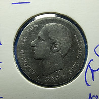 Spain 1 Peseta 1883*83 Silver - [ 1] …-1931 : Koninkrijk