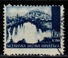 HR+ Kroatien 1941 Mi 48 Wasserfall GH - Croatia
