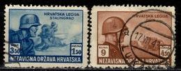 HR+ Kroatien 1943 Mi 113-14 Legionäre GH - Croatia