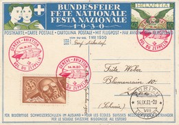 Suisse- Zeppelin - Carte Oblitérée 14/09/1930 - Genève/Luzern - Zeppelins