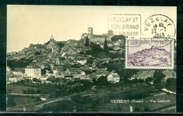 CM-Carte Maximum Card #France-1946 #(Yv.N° 759 )Sites & Monuments # Vézelay #obl. Flamme Pelerinage Vézelay  22.7.49 - 1940-49