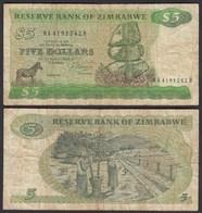Simbabwe - Zimbabwe 5 Dollars 1983 Pick 2c VG (5)     (25020 - Otros – Africa