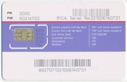 LESOTHO GSM (SIM) CHIP CARD ECONET MINT UNUSED - Lesoto