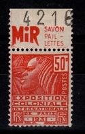 Publicite - YV 272 N** (timbre ) N* (languette) MIR Savon Paillettes Au Nord , Avec Numero De Carnet (position 1) - Advertising