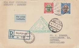 Island - Zeppelin - Carte Oblitérée 30/06/1931 - Island/Allemagne - Zeppelins