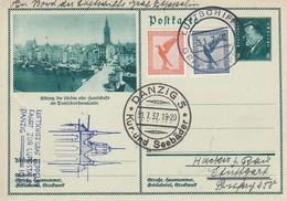 Allemagne - Zeppelin - Carte Oblitérée 31/07/1932 - Allemagne/Danzig - Zeppelins