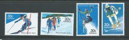 Australia 1984 Snow Ski Set Of 4 MNH - 1980-89 Elizabeth II