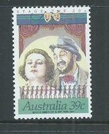 Australia 1989 39c Stage & Screen Perf. 14 X 13.25 Single MNH - 1980-89 Elizabeth II