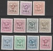 Preo Serie Nr 57 Pre 747/757  ** 1964 - Typografisch 1951-80 (Cijfer Op Leeuw)