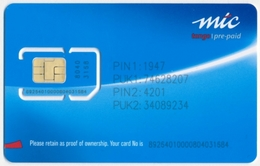 NAMIBIA - NAMIBIE GSM (SIM) CARD MCL TANGO MINT UNUSED - Namibië