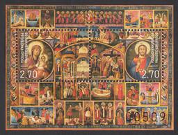 Bosnia Serbia 2020 Easter Ostern Paques Celebrations Religions Christianity Frescos, Block Souvenir Sheet MNH - Bosnia And Herzegovina