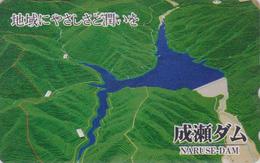 Télécarte JAPON / 110-016 - ENERGIE - Barrage Hydraulique ** Naruse ** - DAM JAPAN Phonecard - DAMM - 17 - Japan
