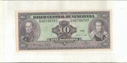 Billet Venezuela , Billet De Banque De 10 Bolivares 1986   (Mai 2020  013) - Venezuela