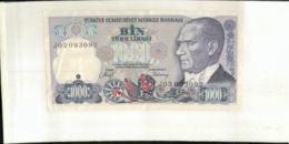 Billet Turquie, 1000 Lira  1970    (Mai 2020  013) - Turkije