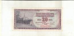 Billet  Yougoslavie 20 Dinara 1978     (Mai 2020  013) - Joegoslavië