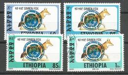 Ethiopia Ethiopie Mi.1509-12 SG1616-19 Complete Set Used 1994 - Etiopía