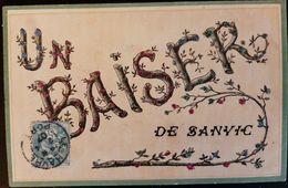 76 - UN  BAISER  DE  SANVIC  - Carte Pailletée - France