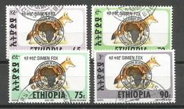 Ethiopia Ethiopie Mi.1513-16 SG1623-26 Complete Set 30th Anniversary Of The African Development Bank Used 1994 - Etiopía