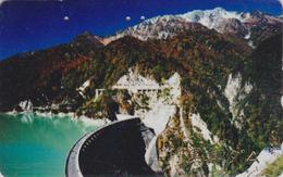 Télécarte JAPON / 110-016 - ENERGIE - Digue Barrage Hydraulique & Montagne - DAM JAPAN Phonecard - DAMM - 21 - Gebirgslandschaften