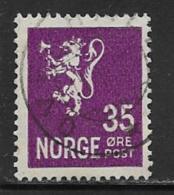 Norway, Scott # 124 Used Lion Rampant, 1934 - Gebruikt