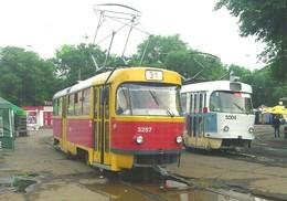 TRAM * TRAMWAY * RAIL * RAILWAY * RAILROAD * TATRA * ODESSA * ODESA * UKRAINE UKRAINIAN * Top Card 0416 * Hungary - Tramways