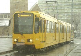 TRAM RAIL RAILWAY RAILROAD TW 6000 EX HANNOVER TRAMWAY GERMANY GERMAN BKV BOSNYAK SQUARE BUDAPEST Top Card 0445 Hungary - Tramways