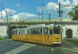 TRAM TRAMWAY * RAIL RAILWAY RAILROAD * GANZ MAVAG CSMG GCSM ICS * BKV MARGARET BRIDGE BUDAPEST * Top Card 0462 * Hungary - Tramways