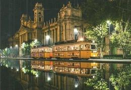 TRAM TRAMWAY RAIL RAILWAY RAILROAD GANZ MAVAG UV BKV KOSSUTH LAJOS SQUARE BUDAPEST CHRISTMAS XMAS Top Card 0465 Hungary - Tramways