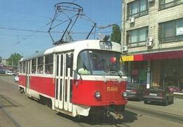 TRAM * TRAMWAY * RAIL * RAILWAY * RAILROAD * TATRA * KIEV * UKRAINE * UKRAINIAN * Top Card 0476 * Hungary - Tramways