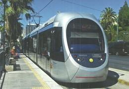 TRAM TRAMWAY RAIL RAILWAY RAILROAD PININFARINA SIRIO * SYNTAGMA END STATION ATHENS GREECE GREEK * Top Card 0478 Hungary - Tramways
