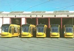TRAM * TRAMWAY * RAIL RAILWAY RAILROAD * SIEMENS COMBINO * HUNGARIA REMISE STATION * BUDAPEST * Top Card 0481 * Hungary - Tramways