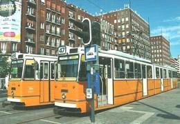 TRAM TRAMWAY RAIL RAILWAY RAILROAD GANZ MAVAG CSMG GCSM ICS BKV DEAK FERENC SQUARE BUDAPEST EFOTT Top Card 0492 Hungary - Tramways