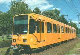 TRAM RAIL RAILWAY RAILROAD TW 6000 EX HANNOVER TRAMWAY GERMANY GERMAN BKV PESTSZENTLORINC BUDAPEST Top Card 0494 Hungary - Tramways