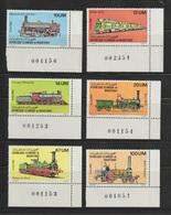 Mauritania - 1980 - ( Transport - Trains - Mastodont Locomotive ) - Complete Set - MNH (**) - Mauritania (1960-...)