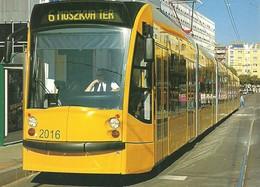 TRAM * TRAMWAY * RAIL * RAILWAY * RAILROAD * SIEMENS COMBINO * BKV * BUDAPEST MOSZKVA SQUARE * Top Card 0215 1 * Hungary - Tramways