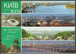 Ukraine 2012 Soccer UEFA EURO  Postcard I Stadium Kiev  Mint - Ukraine