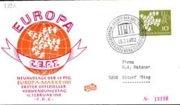 RFA Poste Obl Yv: 239a Mi:367y Europa Cept 19 Colombes (TB Cachet à Date) Fdc Bonn 15-2-62 - [7] Federal Republic